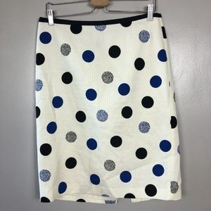 Talbots Womens Polka Dot Career Pencil Skirt Sz 12